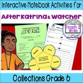 """Poetry: """"After Katrina"""" & """"Watcher"""" Interactive Notebook Activities Gr. 6"""
