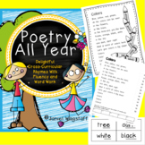 Poetry All Year: Cross-Curricular Rhymes w Fluency & Word Work K-2 CCSS Aligned