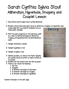 Poetry (Alliteration, Hyperbole, Imagery) Lesson