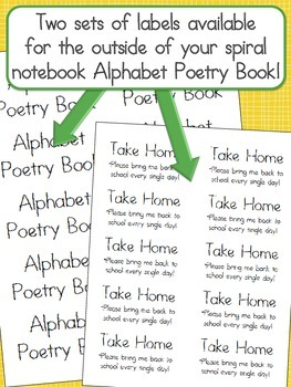 Alphabet Activities Poetry Book, (Fill in the Blanks) With Alphabet Letters