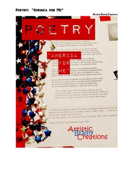 Poetry: America For Me, Patriotism and Henry VanDyke