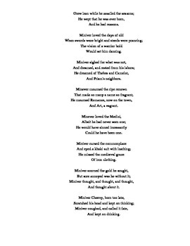 Edwin Arlington Robinson Poetry Analysis (American Poetry - Regionalism/Realism)