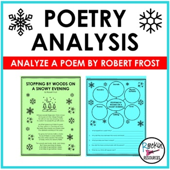 Poetry Analysis By Rockin Resources  Teachers Pay Teachers Poetry Analysis