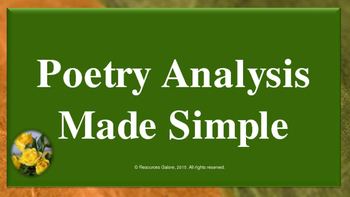 Poetry Analysis Made Simple