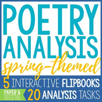 Spring Poetry Reading and Analysis - 5 Interactive Poetry
