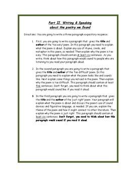 Goldilocks and the Three Poems Poetry Analysis