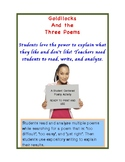 Goldilocks & the 3 Poems - Middle / High School Poetry 1-3 Day Activity
