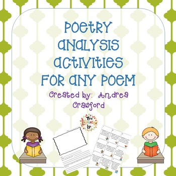 Poetry Analysis Activities for Any Poem with Task Cards