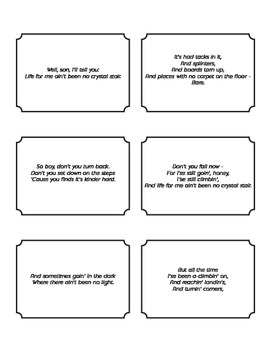 Poetry Analysis Activity for Mother to Son by Langston Hughes