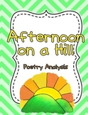Poetry Analysis {{Afternoon on a Hill}} CCSS exemplar