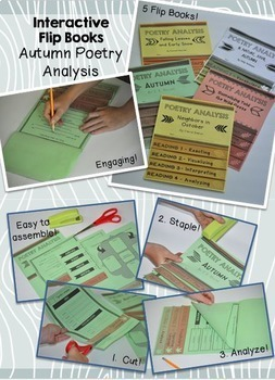 20 Poetry Analysis Interactive Flip Books - All Year Long!