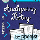 Poetry Analysis: Analyzing Poetry for Grades 4-8