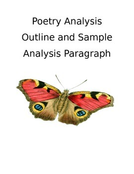 Poetry Analysis/Argument Outline and Sample