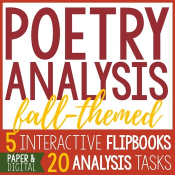 5 Interactive Poetry Analysis Flip Books - Autumn Poems