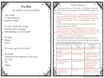 Poetry Analysis Booklet #2