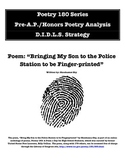 Pre-AP/Honors Poetry Analysis - Bringing My Son...Police Station