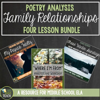 Middle School Poetry Analysis and Writing Mini Unit: Three Poems on Family