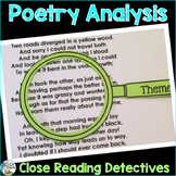 Poetry Analysis Close Reading Detectives