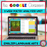 Poetry Analysis Digital Learning for Google Classroom Dist