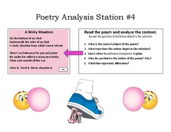 Poetry Analysis Discussion Stations - 6 Posters