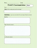 Poetry Analysis Guided Notes/Worksheet using TPCASTT