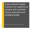 POETRY Analysis: Grade 3, Grade 4, Grade 5: Multiple-Choic
