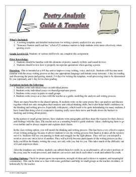 Poetry Analysis Guide and Template for Any Poem