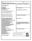 Poetry Analysis- Harlem Renaissance Poets ( 4 Worksheets)