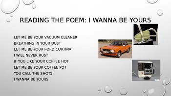 Poetry Analysis: I wanna be yours by John Cooper Clarke