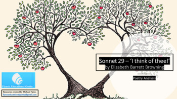 Poetry Analysis Lesson: Sonnet 29 'I think of thee' by Elizabeth Barrat Browning