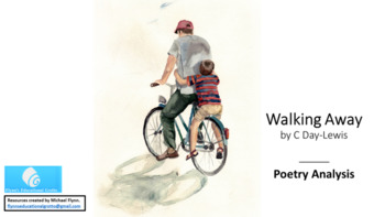 Poetry Analysis Lesson: Walking Away by C Day.Lewis