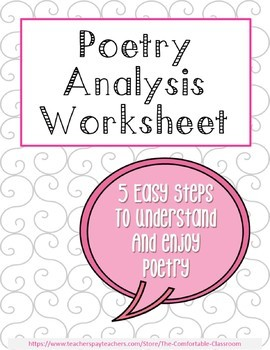 Poetry Analysis Lesson and Worksheet: Close Reading
