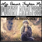 Poetry Analysis: Life Doesn't Frighten Me At All by Maya Angelou
