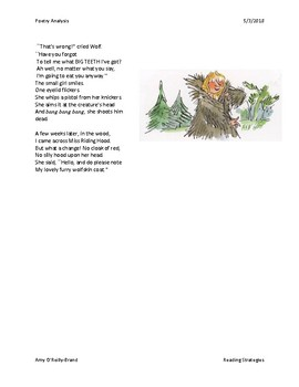 Poetry Analysis - Little Red Riding Hood and the Wolf