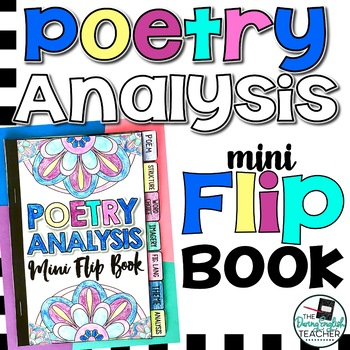 Poetry Analysis Mini Flip Book (a sticky note book for poems)
