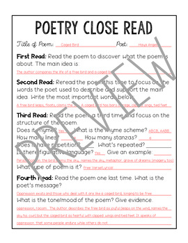 Poetry Analysis Month 3 and Poetry Reference Pages
