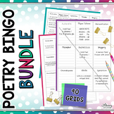 Poetry Analysis - Poetry Reading - Poetry Bingo (BUNDLE)