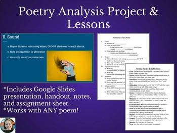 Poetry Analysis Lesson and Project