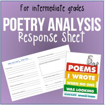 BILINGUAL: Poetry Analysis Response Sheet in ENGLISH & SPANISH!!!