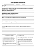 Poetry Analysis Rubric and Directions