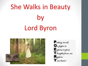 Poetry Analysis: She Walks in Beauty by Lord Byron