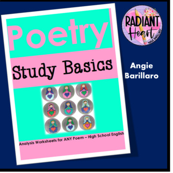 Poetry Analysis Starter Worksheets for ANY POEM-High School English