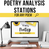 Poetry Analysis Stations for ANY Poem (Digital)