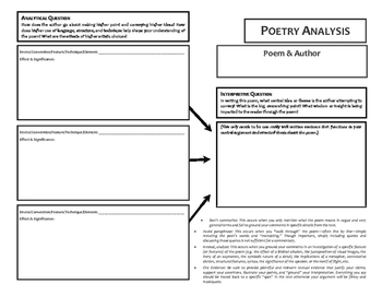 Poetry Analysis Support