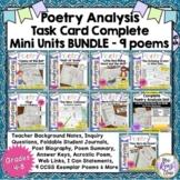 Poetry Task Card BUNDLE - Poetry Analysis 9 Poems (CCSS-ELA) 3 sets FREE