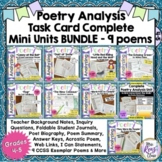 Poetry Analysis Mini Units Task Cards BUNDLE - 9 Poems on