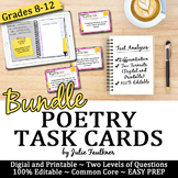 Poetry Analysis Task Cards, Digital and Traditional BUNDLE