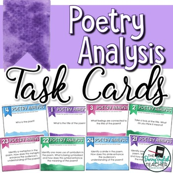 Poetry Analysis Task Cards for Any Poem