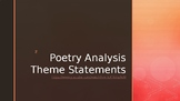 Poetry Analysis Theme Statements
