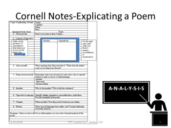 Poetry Analysis Toolbox PPT
